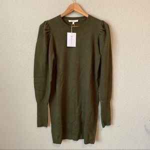 Wayf olive sweater dress small